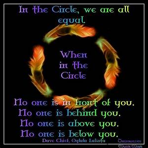 We Are All Equal In The Circle Of Life