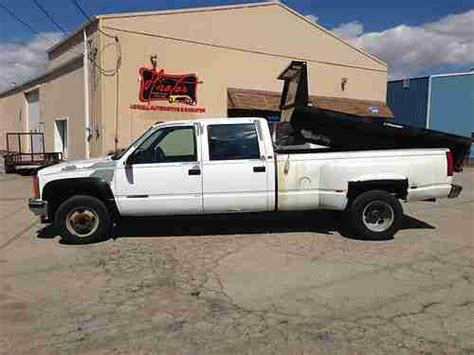 old car manuals online 1993 gmc vandura 3500 seat position control find used 1993 gmc k3500 4x4 crew cab dump in lowell indiana united states for us 8 000 00