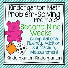 Kindergarten Kindergarten Math Problemsolving