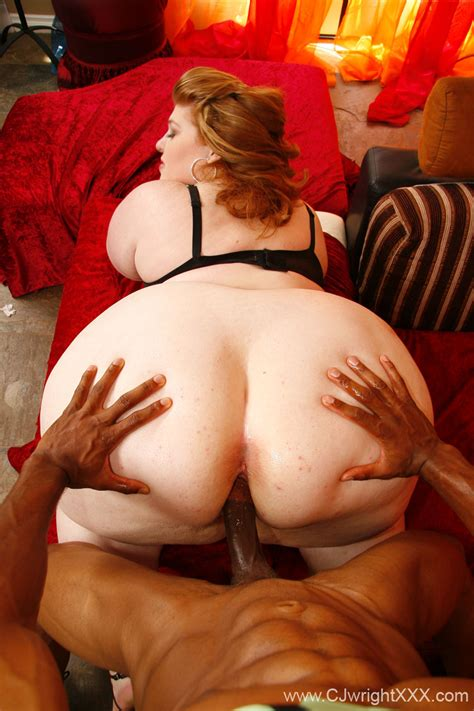Interracial Bbw Sex With Huge Ass Fat Babe Red White And Beautiful
