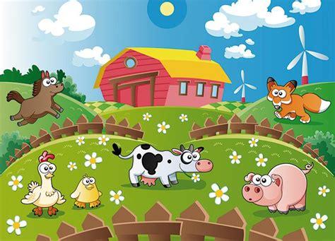 Kinderzimmer Wandgestaltung Bauernhof by Animals Farm Wallpaper Murals By Homewallmurals