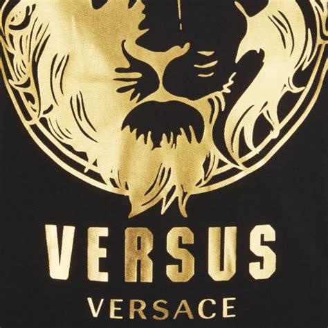 versace mens lion print  shirt black  stamp