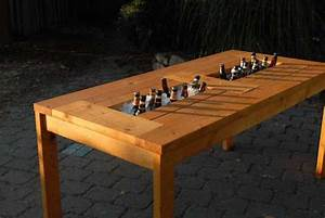 Plans for a Patio Table with Built-in Beer/Wine Coolers