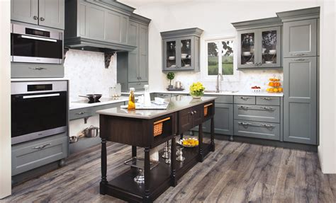 gray wood kitchen cabinets wellborn cabinets cabinetry cabinet manufacturers