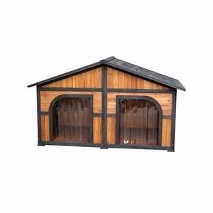 Duplex dog house extra large doghouse outdoor xl double for Xl outdoor dog house