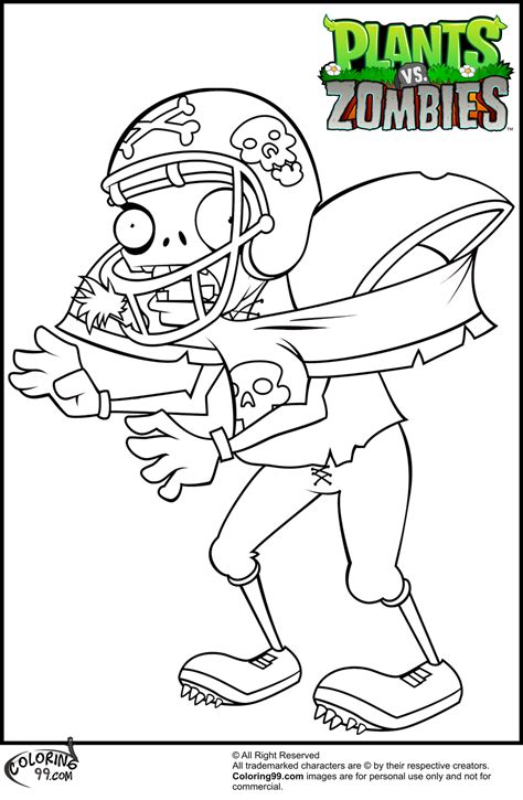 Coloring Zombies Plants by Plants Vs Zombies Coloring Pages Team Colors