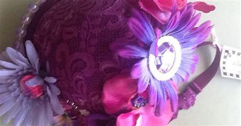 6637 osborne and fabric purple flower power bra purse crafts craft