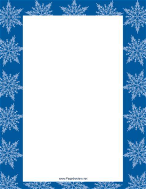 white snowflake border