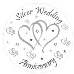 silver wedding anniversary buy silver wedding anniversary cake topper personalised names edible icing 7 5 quot 19cm square