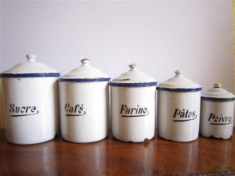 food canisters kitchen vintage canister set by le box shop traditional kitchen canisters and jars by etsy