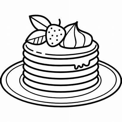 Pancake Pancakes Drawing Icon Icons Svg Dessert