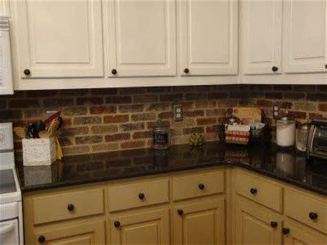 faux brick backsplash in kitchen brick veneer kitchen backsplash home designs 8919