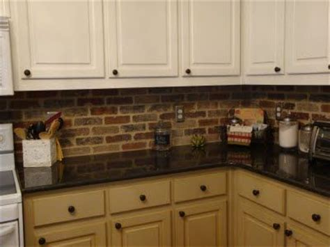 Brick Veneer Kitchen Backsplash   Home Designs