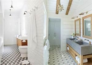 Carreaux De Ciment Salle De Bain : 20 inspirations pour des carreaux de ciment bathroom ~ Melissatoandfro.com Idées de Décoration