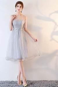 Robe Pour Temoin De Mariage : robe grise courte pour t moin de mariage paule d nud e ~ Melissatoandfro.com Idées de Décoration