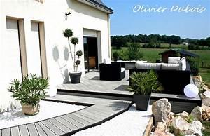 conseils pour amenager une terrasse contemporaine With idee de terrasse exterieur 3 idee deco entree noir et blanc
