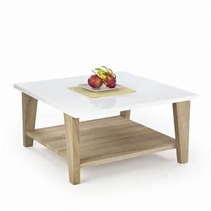 Table Basse Blanc Bois : table basse scandinave blanc laqu bois anika tables basses design ~ Teatrodelosmanantiales.com Idées de Décoration