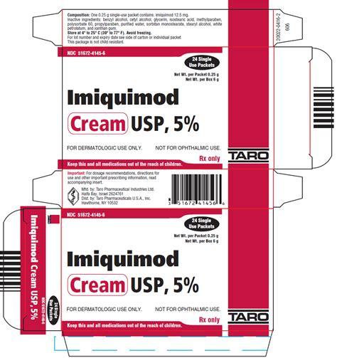 imiquimod cream fda prescribing information side