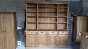 Bibliothèque En Pin : bahut biblioth que pin massif en vieux bois ~ Teatrodelosmanantiales.com Idées de Décoration