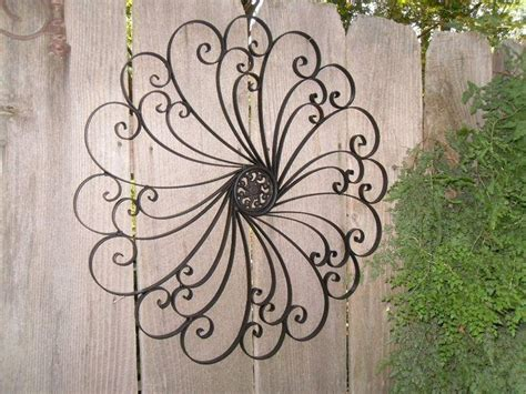 Ideas Of Outdoor Wrought Iron Wall Art