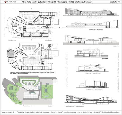 wolfsburg cultural center germany 1958 62 alvar aalto archweb archi alvar aalto