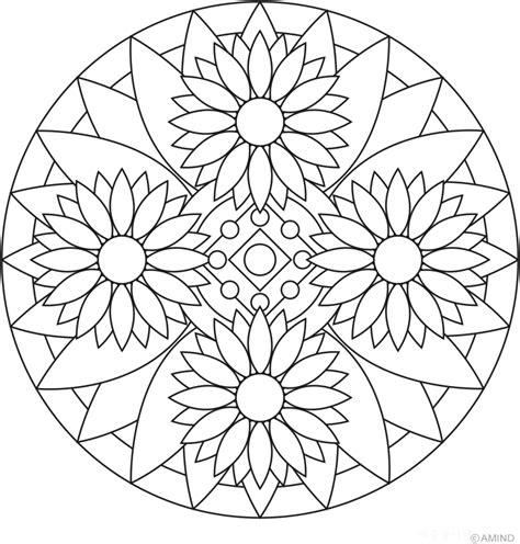 flower mandala coloring pages    print