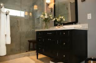 black vanity contemporary bathroom jeff lewis design - Jeff Lewis Bathroom Design