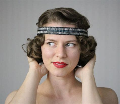 20s Hairstyles With Headband by 1920s Headband Flapper Hair Accessory Deco Headpiece