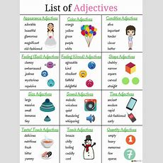 Top 200+ Adjectives Used In English Vocabulary For Speaking  English Vocabulary English