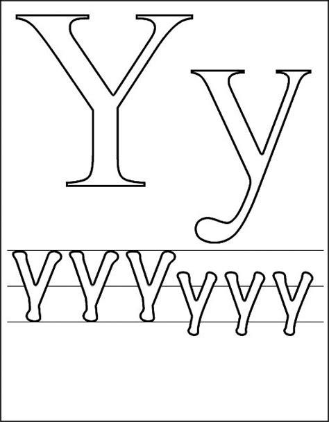Kleurplaat Y by N 26 Kleurplaten Letters