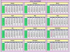 2030 Calendar
