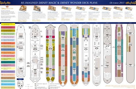 disney deck plan 11 revised deck plans featuring 2015 dock changes to the