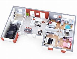 Plan Interieur Maison : plan maison moderne althen contemporain top duo ~ Melissatoandfro.com Idées de Décoration