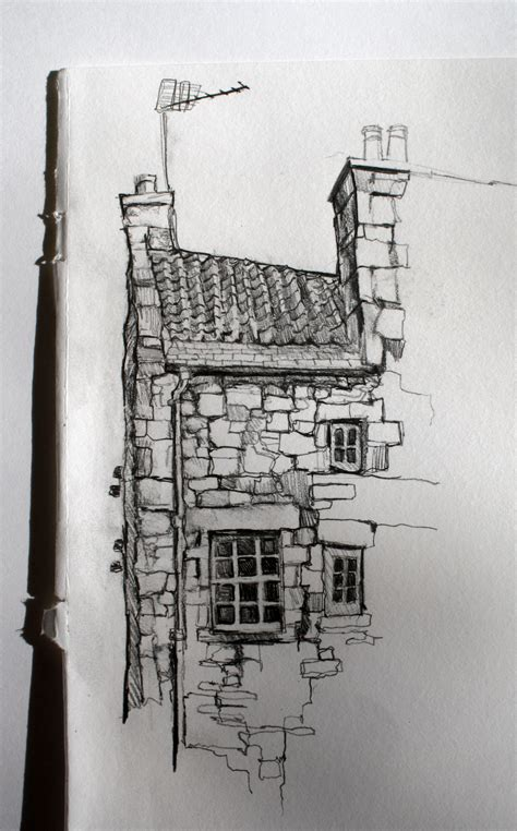 sketch  building  dean village edinburgh  aileen