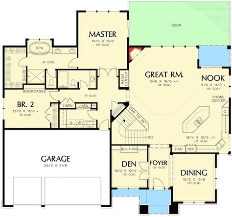 house plans affordable small house floor plans prairie modern prairie style home plan 6966am architectural