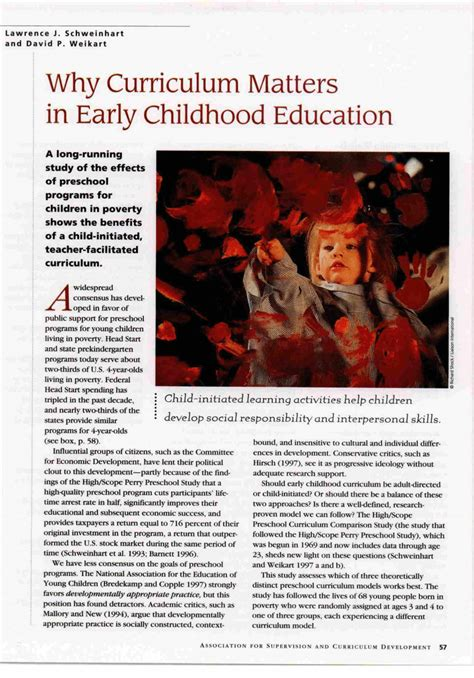 curriculum matters  early childhood education