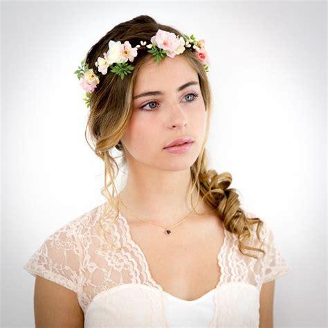 couronne de fleurs p 234 che et ivoire appoline accessoire cheveux mariage accessoires