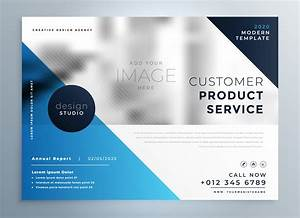 Geometric Blue Professional Brochure Design Template