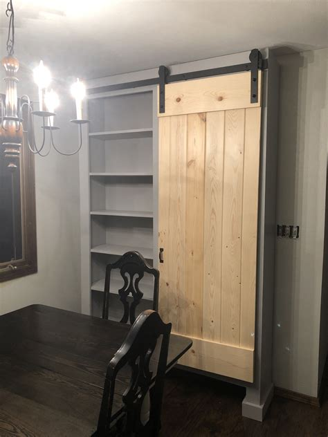 ana white  standing barn door cabinet diy projects