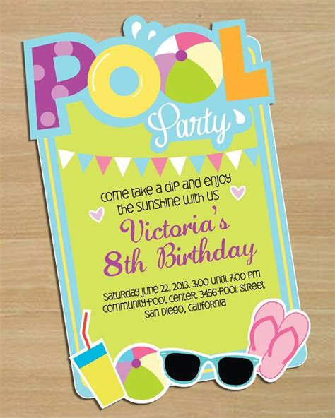 pool invitation template 28 pool invitations free psd vector ai eps format free premium templates
