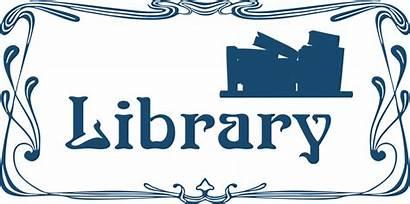 Library Clip Sign Clipart Door Svg Cliparts