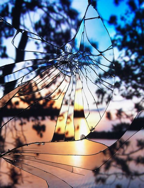sunsets viewed   shattered mirror  gorgeous