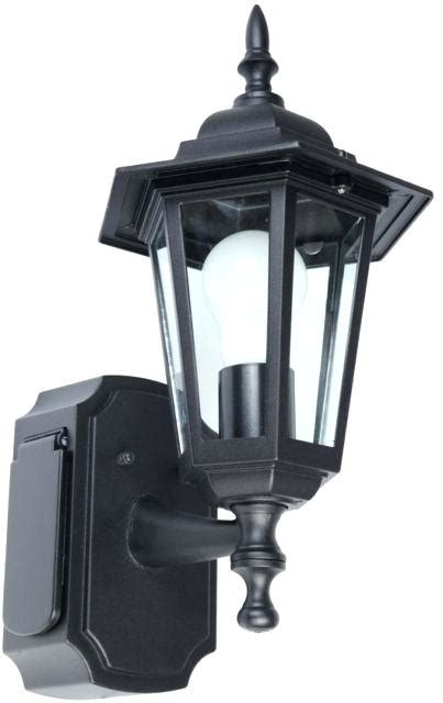 outdoor light with outlet black outdoor wall light with gfci 1575 in h outdoor