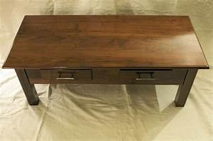 handmade walnut coffee table by drop tine design With custom built coffee tables