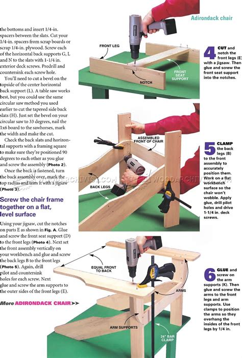 traditional adirondack chair plans woodarchivist
