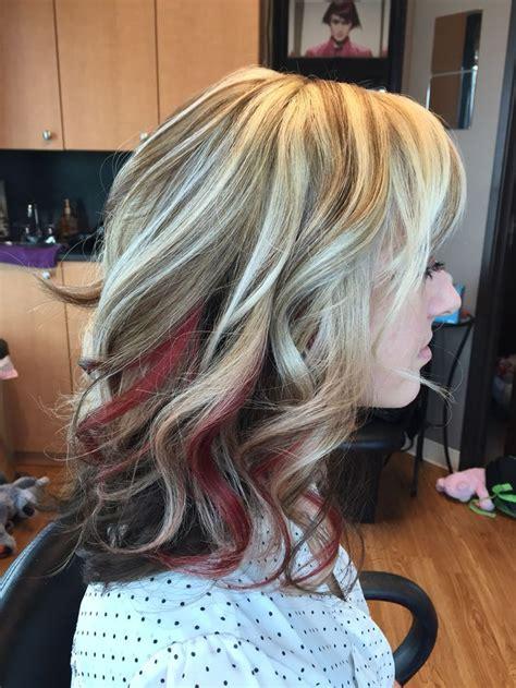 Peek A Boo Highlights On Blonde Hair Hair Color Ideas