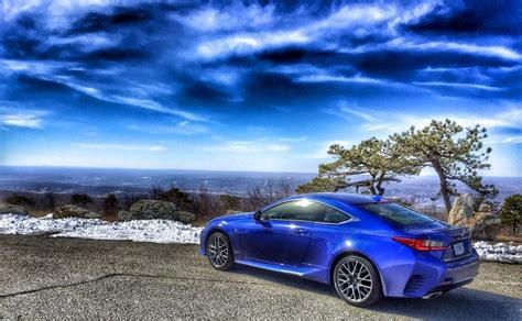 lexus rc   sport stuns  ultrasonic blue mica  torque news