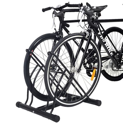 Bike Rack For Garage Floor by New Two Bicycle 2 Bike Stand Garage Floor Storage
