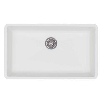 white undermount single bowl kitchen sink blanco precis undermount granite composite 32 in 2117