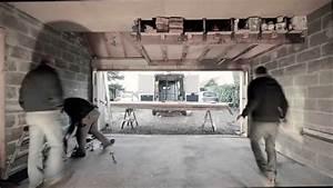 pose d39une porte de garage youtube With comment isoler une porte de garage